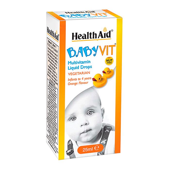 HealthAid Baby Vit Drops - Hương vị cam (từ 0 đến 4 tuổi)